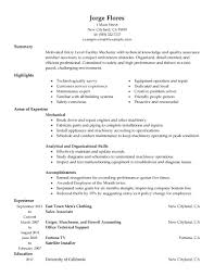 Entry Level Automotive Technician Resume Sample Example Examples