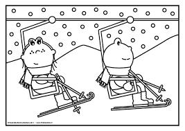 Kleurplaat Frokkie Lola In De Skilift Winter Kleurplaten