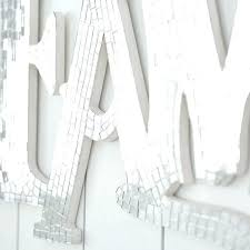 mirror wall art uk mirrored letters contemporary letter n decor square