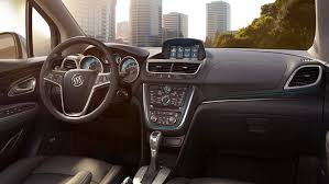 buick encore. view of the steering wheel and dashboard 2016 buick encore luxury crossover