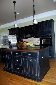 kitchens with painted black cabinets. Beautiful Kitchens Black Distressed Kitchen Cabinets Intended Kitchens With Painted H