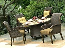 lawn table and chairs popular dining room furniture solid wood round outdoor set plank dark metal