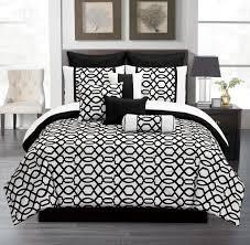elegant bedroom ideas with cal king venturi bedding sets black white comforter sets black