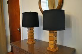 dark wood tripod table lamp base mango round or square shades bedroom black design lighting agreeable