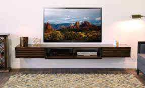 floating tv stand wall mount entertainment center  lotus  piece