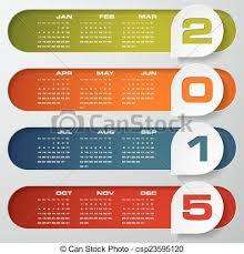 Simple Editable Calendar 2015 Clean Design Simple Editable Vector