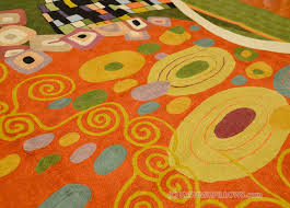 klimt wool rugs art nouveau green rust c abstract wall hangings accent carpets hand embroidered modern area rug tapestry contemporary carpet decorative