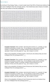 Scientific Notation Chart Solved Part 2 Part 2 According To Psychology Today A Re