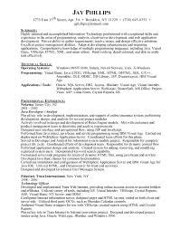 Gallery Of Example Of Resumes Objectives Programming Resume