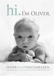 Hi Baby Announcement Photo Birth Announcement Baby Boy Baby