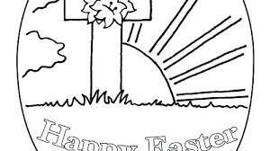 Jesus Easter Coloring Pages Printable Hello Kitty Happy Coloring