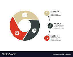 Circle Arrows Infographic Cycle Diagram Royalty Free Vector