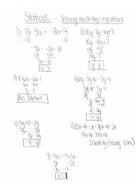 worksheets solving equations with variables on both math worksheets