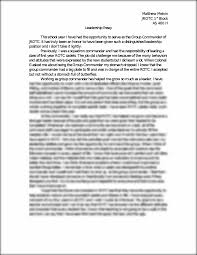 rotc leadership essay matthew melvin jrotc st block as h this is the end of the preview sign up to access the rest of the document