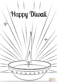 Small Picture Diwali Diya coloring page Free Printable Coloring Pages