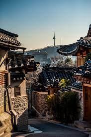seoul, south korea, bukchon hanok ...