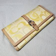 Coach Yellow Signature Large Wallet