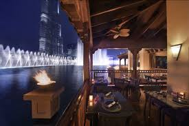 City Lights Bar And Grill Menu 5 Restaurants In Dubai With Epic Fountain Views Insydo