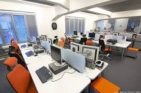 work office design. Simple Creative Great Work Area Of SYMBIO Digital Office Design With Fancy Ergonomic Chair A