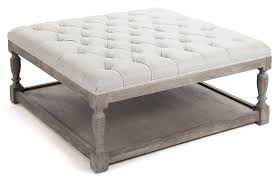 Top Square Ottoman With Storage Ultimate Tufted Ottoman Coffee Table  Decoration Ideas Square Photo