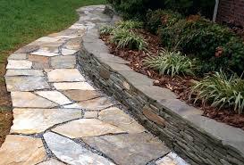 walkway flagstone patio with retaining wall yard flagstone retaining wall capstone blocks walkway flagstone patio with retaining wall capstones