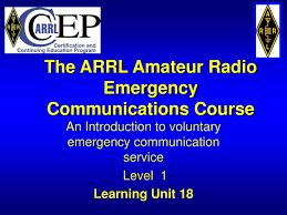 Ppt The Arrl Amateur Radio Emergency Communications Course