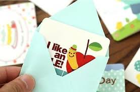 New Small Greeting Cards Love Birthday Party Thank You Event