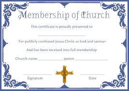 Baptism Certificate Wording Prestigious Church Membership Template