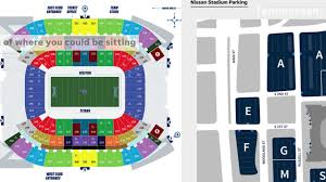 Titans Stadium Seating Chart Nissan Stadium Seating Chart And Parking In Nashville