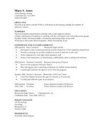 School Counselor Resume Examples Career Counsellor Resume