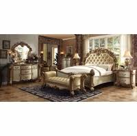 king bedroom sets. Vendome 4pc Button Tufted California King Bedroom Set In Gold Patina Sets