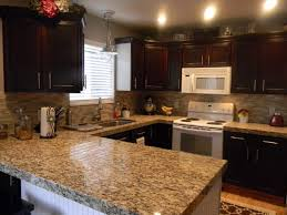 Tiles Backsplash White Cabinets With Dark Granite Countertops Low Water Pressure Kitchen Sink Only