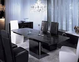 black and white dining table set: contemporary dining table set vg black