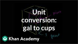 Coverting Gallons To Quarts Pints Cups Video Khan Academy