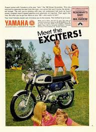 389 best images about yamaha flat tracker 1968 ad yamaha 180 street scrambler motorcycle motorcycling ese meet the exciters