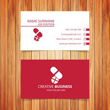 pharmacy design company pharmacy business card vector free download