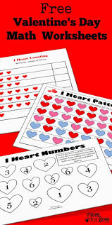 Kindergarten Valentine's Math Kindergarten Worksheets Mess For Less ...