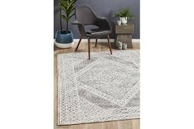lydia charcoal black natural white hand woven vintage look rug 225x155cm kogan com