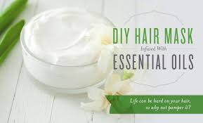diy hair mask infused with essential oils