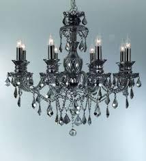 8 arm classic ash grey crystal chandelier