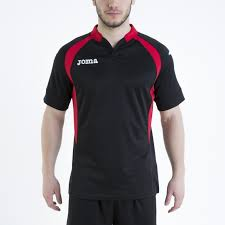 t shirt rugby black red s s 2