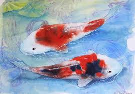 watercolor swimming koi wc koi 1 web