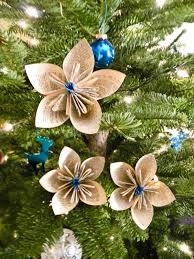 Paper Flower Christmas Tree 50 Diy Paper Christmas Ornaments To Create With The Kids Tonight