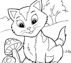 Kittens Coloring Pages Printable Suzannecowlescom