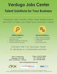 city of glendale ca verdugo jobs center attend a vjc information session