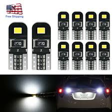 2012 Camaro Dome Light Bulb Size Details About 10pcs White Led Interior Dome Map License Light Bulb T10 2825 168 158 194 Canbus