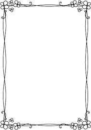 枠飾り枠飾り罫飾り線クローバーおしゃれなデザイン無料