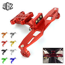 <b>Motorcycle License Plate Bracket</b> CNC Aluminum Mount Frame With ...