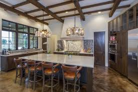 polished concrete floor in house. Contemporary Italian Farmhouse Kitchen Polished Concrete Floor In House