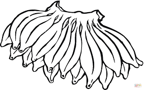 Small Picture Big hand of Bananas coloring page Free Printable Coloring Pages